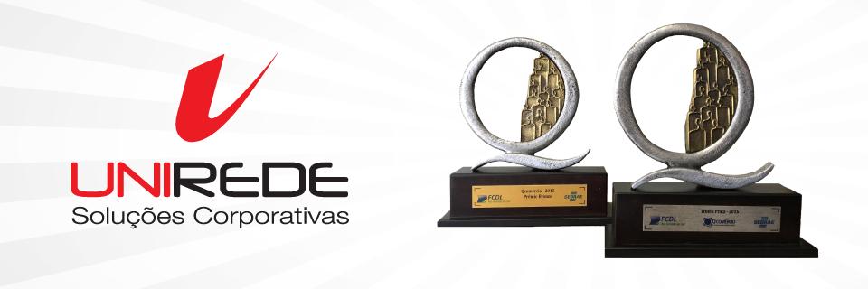 Qualidade e gestão reconhecida. Unirede recebe Prêmio QComércio pelo segundo ano consecutivo