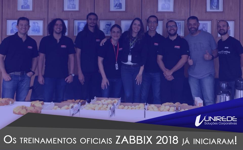 Os treinamentos oficiais Zabbix 2018 já iniciaram!