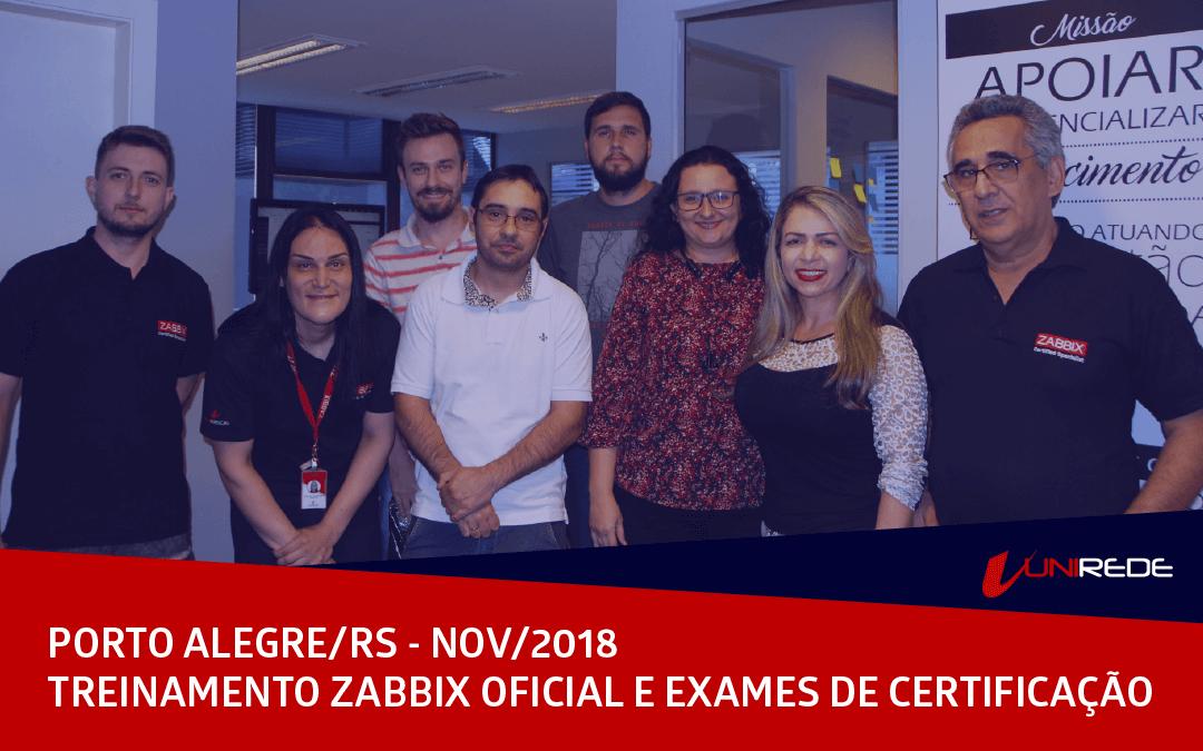 Treinamento Oficial Zabbix e Exames de Certificação em POA