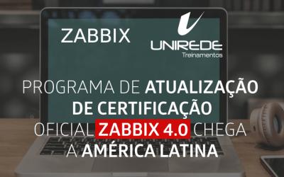 PROGRAMA DE ATUALIZAÇÃO DE CERTIFICAÇÃO OFICIAL ZABBIX CHEGA A AMÉRICA LATINA
